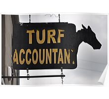Sign, Turf Accountant, Monasterevin, Co. Laois, Ireland Poster