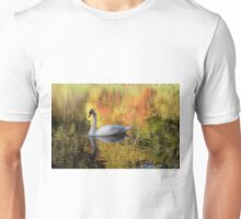 Swan in the Fall Unisex T-Shirt