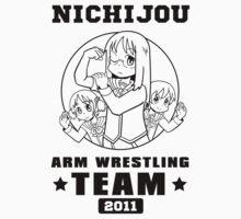 Nichijou Arm Wrestling Team - Black Baby Tee