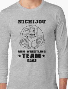 Nichijou Arm Wrestling Team - Black Long Sleeve T-Shirt