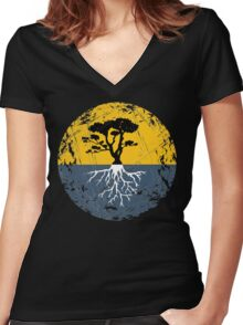 Tree of Life - Rustic Women's Fitted V-Neck T-Shirt