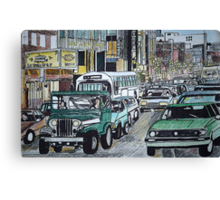 Street Congestion Canvas Print