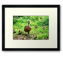 Mrs.Mallard & Children Framed Print