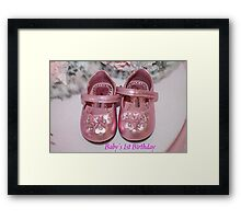 Baby's First Birthday Card Framed Print