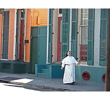 Sunday Stroll in the French Quarter Photographic Print