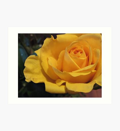 Yellow melancholy Art Print