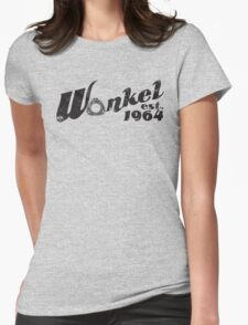 Wankel Black Womens Fitted T-Shirt