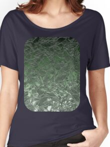 Grunge Relief Floral Abstract Women's Relaxed Fit T-Shirt