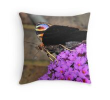 Peacock profile Throw Pillow