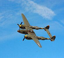 P- 38 J Lightning by Laura  Johnson
