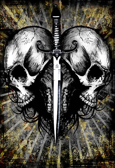 Skull-Dagger Heart by Jeff Ballance