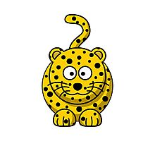 Cartoon Cheetah Photographic Print