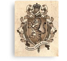 Tiger Coat Of Arms Heraldry Canvas Print