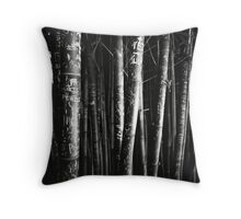scarred bamboo Throw Pillow