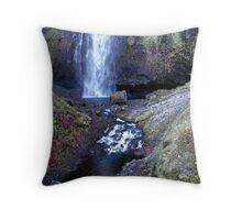 Columbia River Gorge - Latourell Falls Splash Pool Drainage Throw Pillow