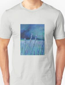 Lavender Digital and Arcylic Impressionistic Abstract T-Shirt