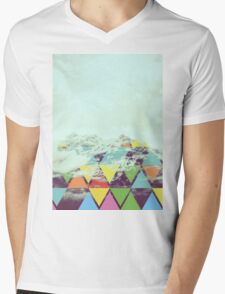 Triangle Mountain Mens V-Neck T-Shirt