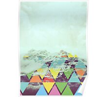 Triangle mountains Poster