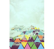 Triangle Mountain Photographic Print