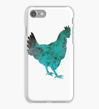 Chicken Hen Teal Blue iPhone Case/Skin