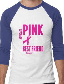 I Wear Pink For My Best Friend (Breast Cancer Awareness) Men's Baseball ¾ T-Shirt