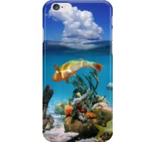 Tropical marine life underwater and sky with cloud iPhone Case/Skin