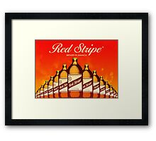 RED STRIPE - BREWED IN JAMAICA Framed Print
