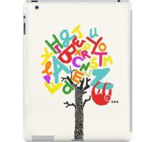 Sleep All Day (Alphabet tree) iPad Case/Skin