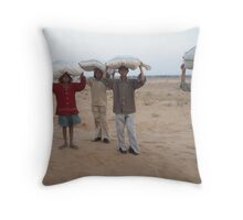 carrying fodder, rajasthan 3 Throw Pillow