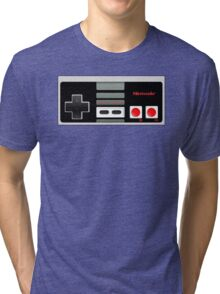 Classic old vintage Retro game controller Tri-blend T-Shirt