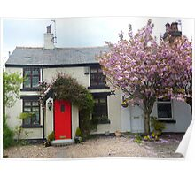 Cottage in Poulton . Poster