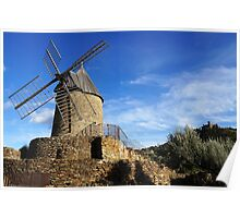 Old windmill in France Poster