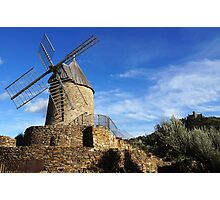 Old windmill in France Photographic Print