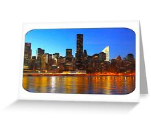City Night Art Greeting Card