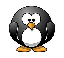 Cartoon Penguin Photographic Print