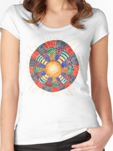 Moon Vibes ART Women's Fitted Scoop T-Shirt