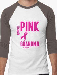 I Wear Pink For My Grandma (Breast Cancer Awareness) Men's Baseball ¾ T-Shirt