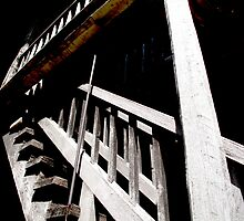 Stairway At The State Capital by Sherry Graddy