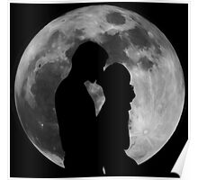 Lovers Silhouette Poster