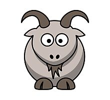 Cartoon Goat Photographic Print
