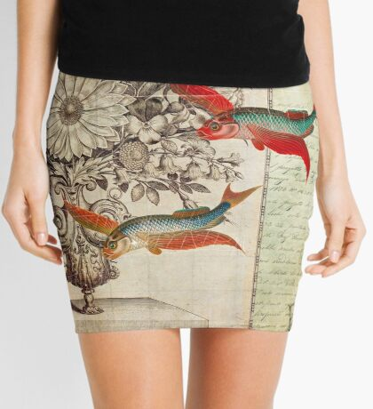 Fish of a Feather Mini Skirt