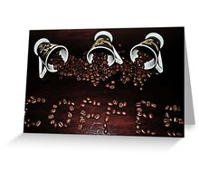 Spilling The Beans Greeting Card