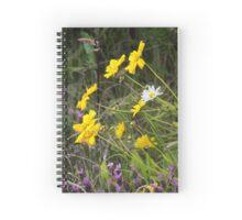 Summer border Spiral Notebook