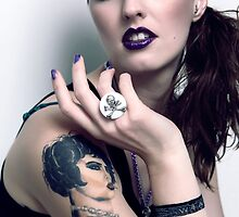 Lucky B*tch 'Pewter Skull' Ring (worn by Mandi) by Belinda Leopold
