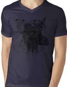 Psilocybinaturearthell Psychedelic Ink Illustration Mens V-Neck T-Shirt