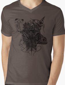 Psilocybinaturearthell Psychedelic Ink Illustration Mens V-Neck T-Shirt