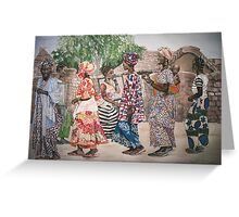 Malian Dancers Greeting Card