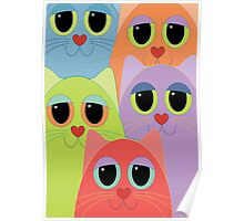 CAT FACES FIVE Poster