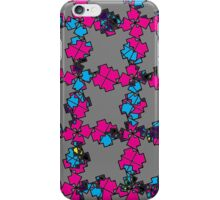 Pink and Grey Tessellation Pattern iPhone Case/Skin