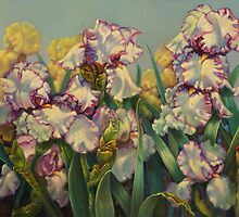 "Bearded Iris ""Hemstitched"" by Carolyn Sterling"